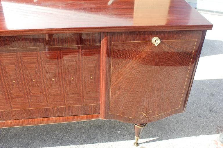 Mid-20th Century Art Deco/ Art Modern Sideboard / Buffet Macassar Ebony