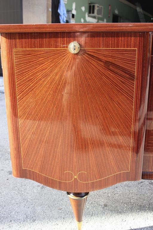 "Art Deco/ Art Modern Sideboard / Buffet Macassar Ebony ""Sunray"", circa 1940 6"
