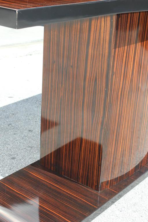 Majestic French Art Deco Exotic Macassar Ebony Console Table, circa 1940s For Sale 1