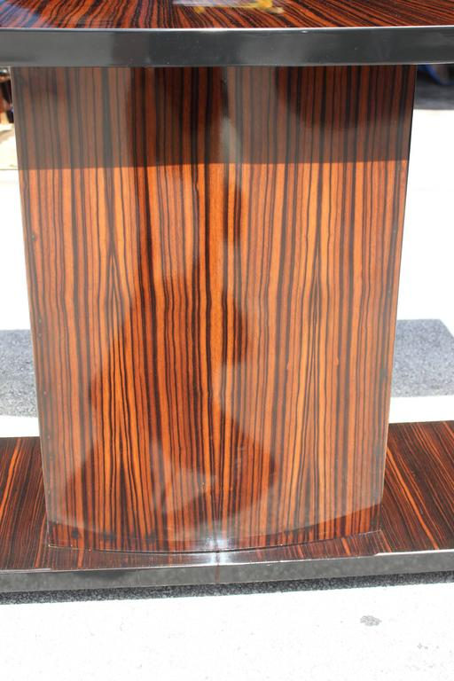 Majestic French Art Deco Exotic Macassar Ebony Console Table, circa 1940s For Sale 3