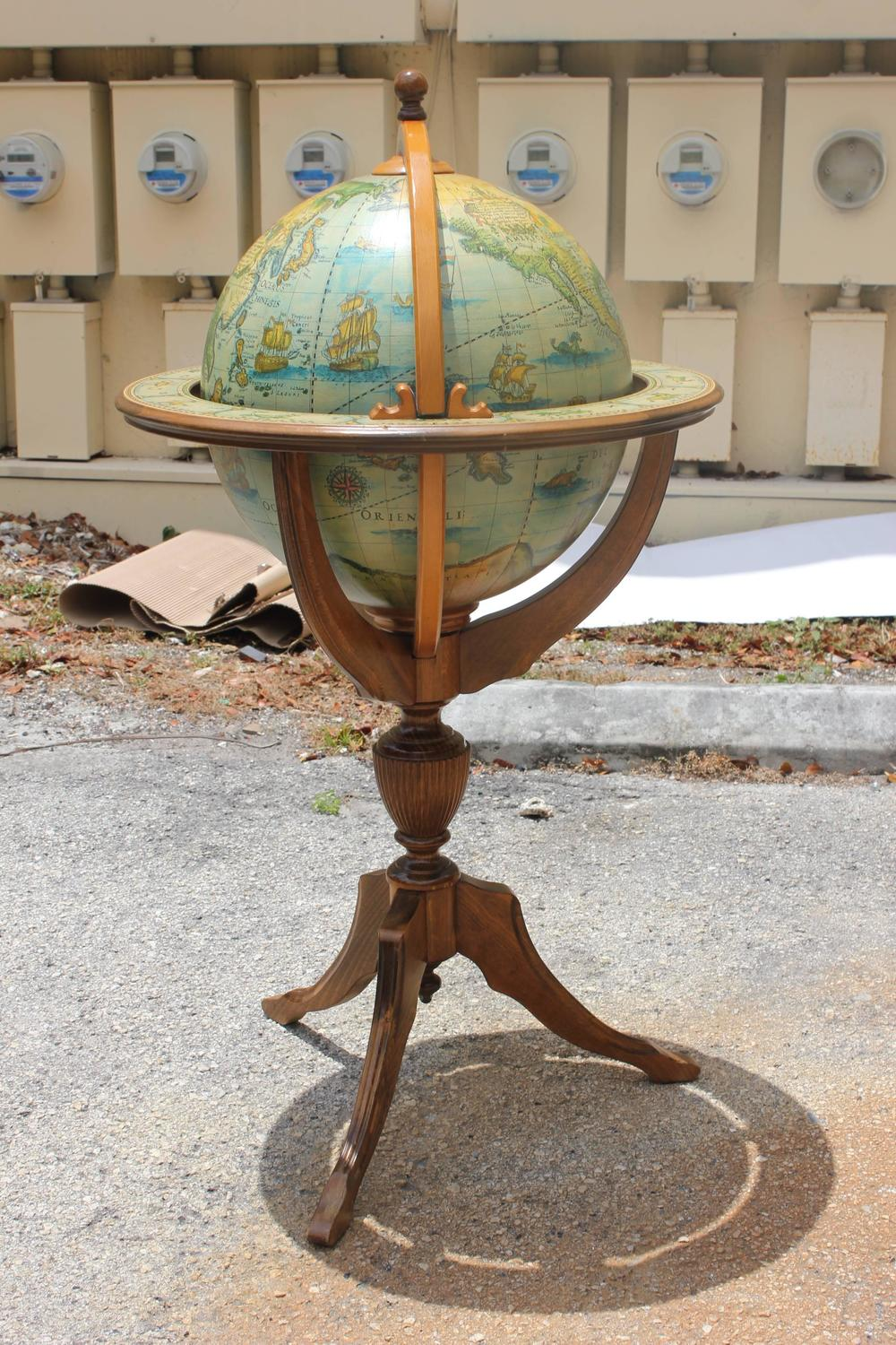 French mid century modern world globe bar circa 1960s at for Mid century furniture florida