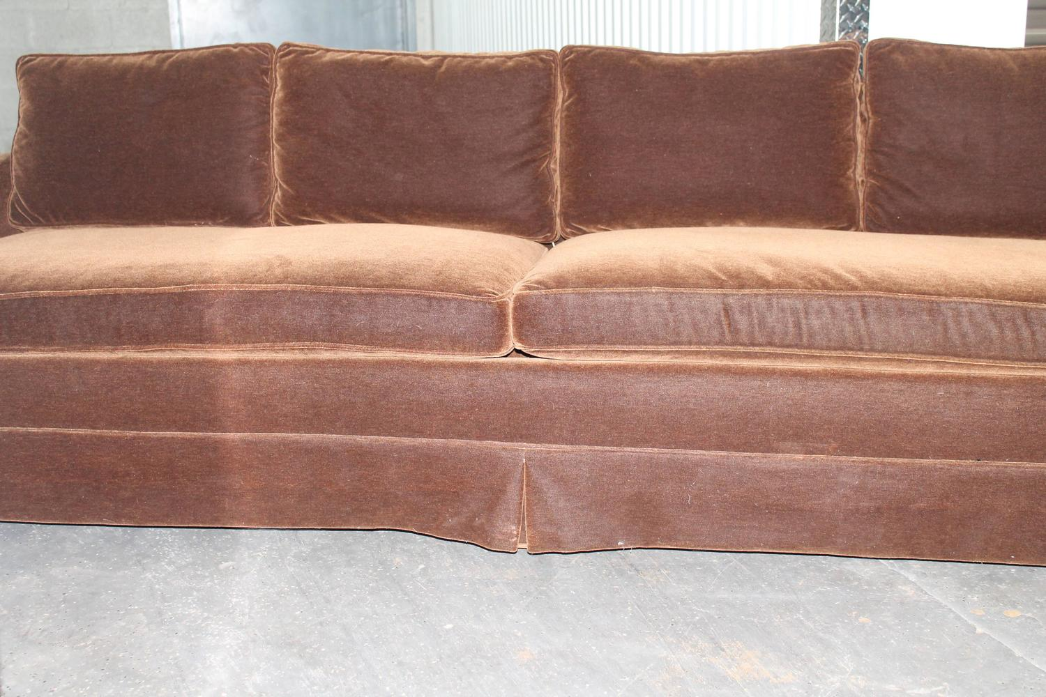 Mid Century Modern Grand Sofa Reupholstered in Chocolate  : IMG4872z from www.1stdibs.com size 1500 x 1000 jpeg 198kB