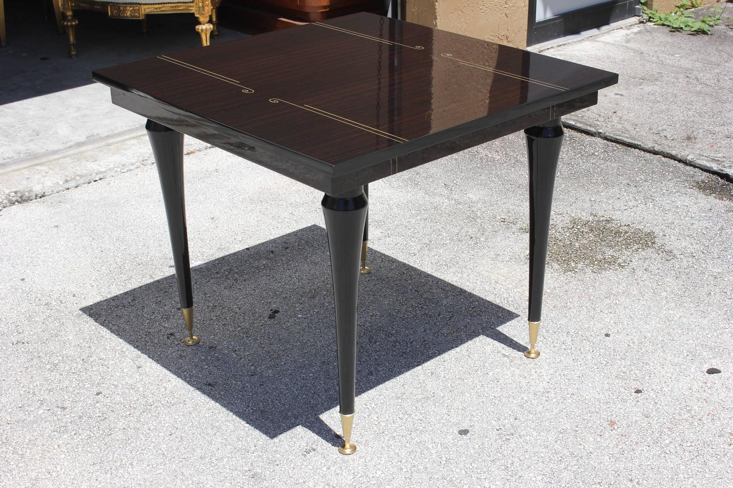 Art Deco Foyer Furniture : French art deco exotic macassar ebony square center or