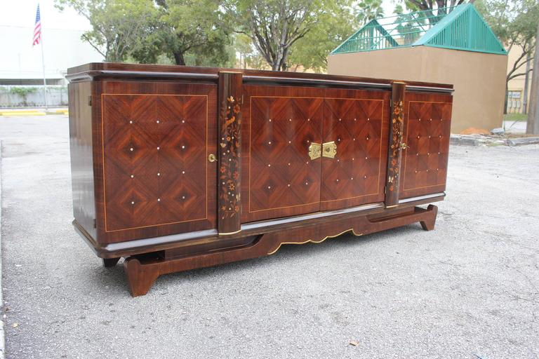 french art deco leleu style palisander m o p sideboard buffet circa 1940 for sale at 1stdibs. Black Bedroom Furniture Sets. Home Design Ideas