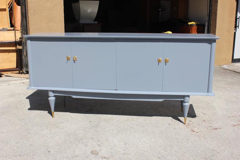 French Art Deco, Art Modern Sideboard Buffet Bar ''Light Baby Blue'' - French Art Deco, Art Modern Sideboard Buffet Bar ''Light Baby Blue