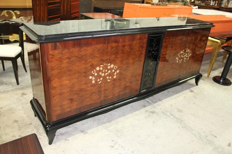 Mid-20th Century French Art Deco Mother-of-Pearl style of Jules Leleu Sideboard or Buffet For Sale