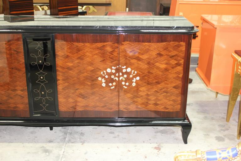 French Art Deco Mother-of-Pearl style of Jules Leleu Sideboard or Buffet For Sale 2