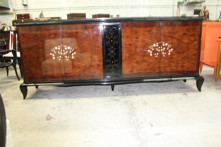 French Art Deco Mother-of-Pearl style of Jules Leleu Sideboard or Buffet For Sale 4