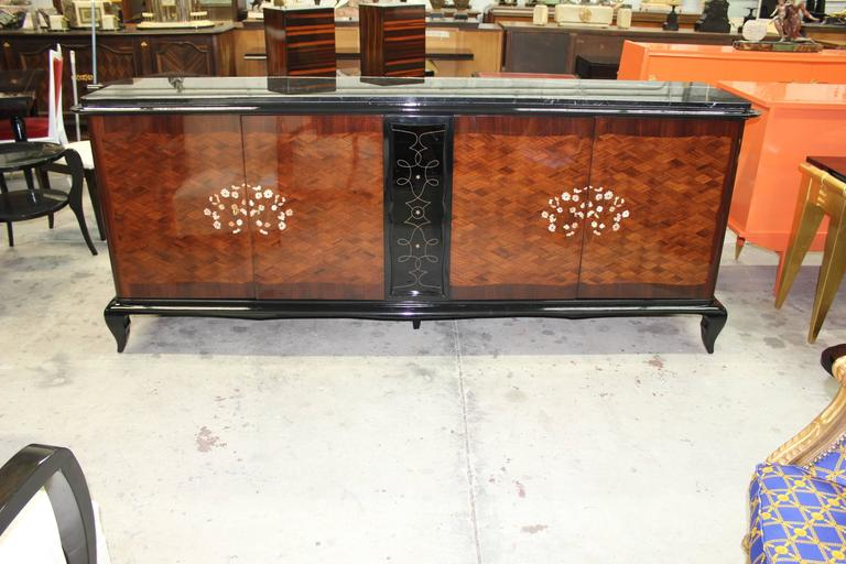 French Art Deco Mother-of-Pearl style of Jules Leleu Sideboard or Buffet For Sale 5