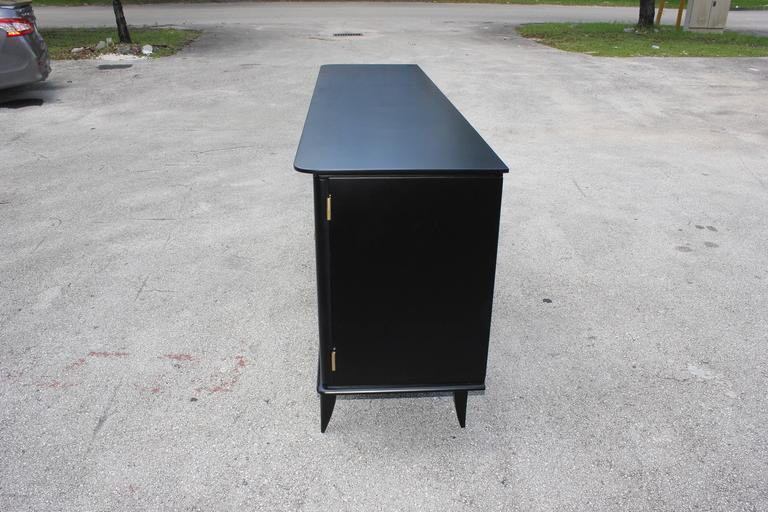 Fine French Art Deco Ebonized Sideboard / Buffet circa 1940s 3