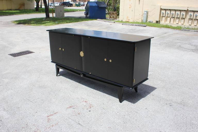Fine French Art Deco Ebonized Sideboard / Buffet circa 1940s 4