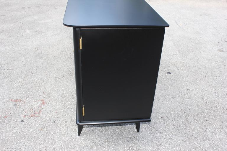 Fine French Art Deco Ebonized Sideboard / Buffet circa 1940s 7