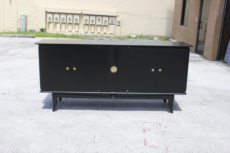 Fine French Art Deco Ebonized Sideboard / Buffet circa 1940s 9