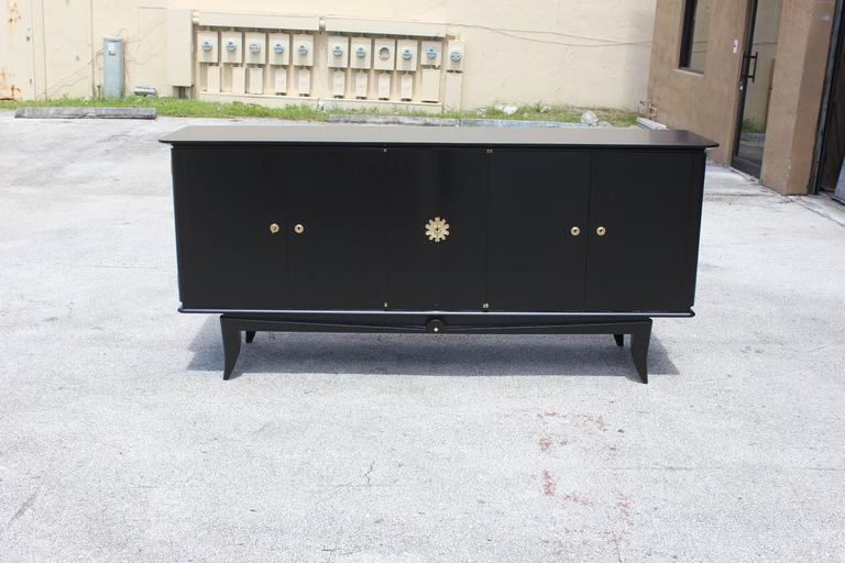 Fine French Art Deco Ebonized Sideboard / Buffet circa 1940s 10