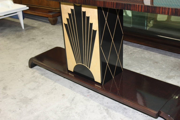 Mid-20th Century French Art Deco Exotic Macassar Ebony