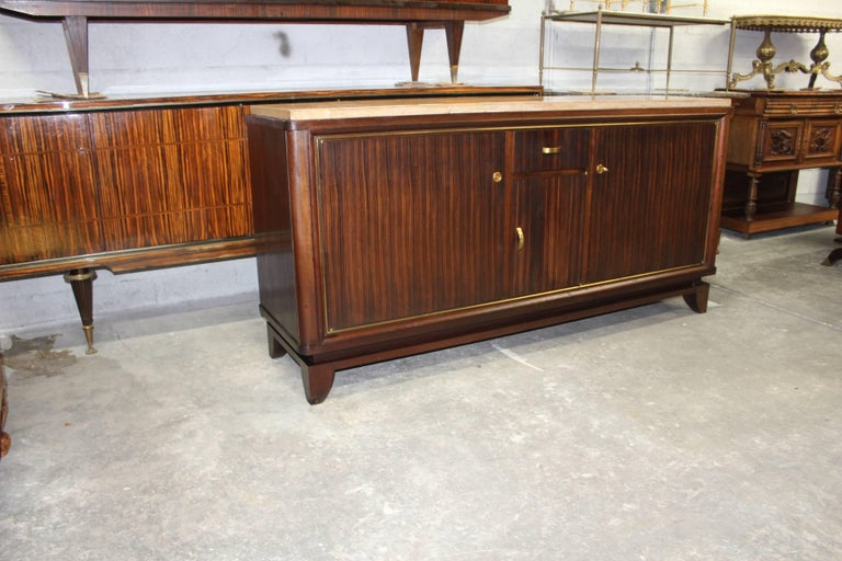 French Art Deco Macassar Ebony Sideboard or Buffet by Maurice Rinck, circa 1940s For Sale 1