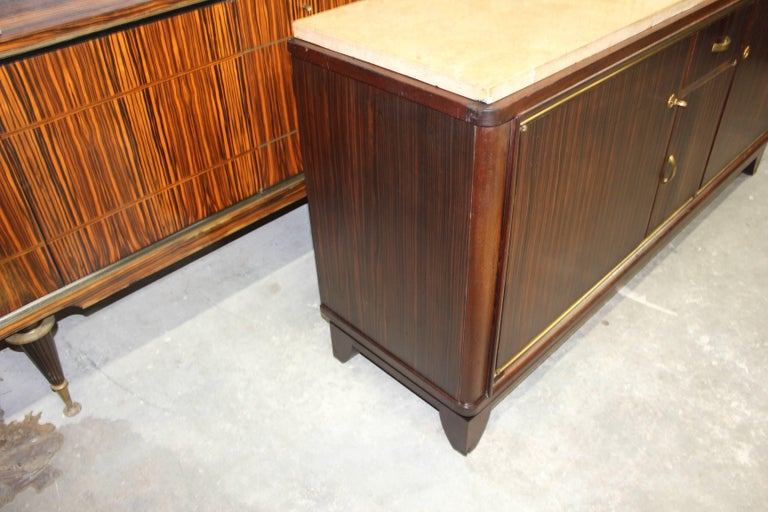 French Art Deco Macassar Ebony Sideboard or Buffet by Maurice Rinck, circa 1940s For Sale 2