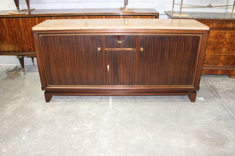 French Art Deco Macassar Ebony Sideboard or Buffet by Maurice Rinck, circa 1940s For Sale 3