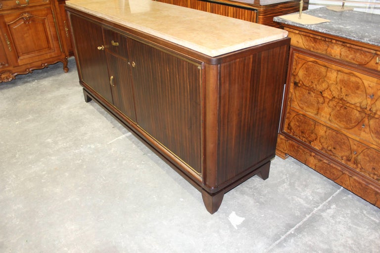 French Art Deco Macassar Ebony Sideboard or Buffet by Maurice Rinck, circa 1940s For Sale 4