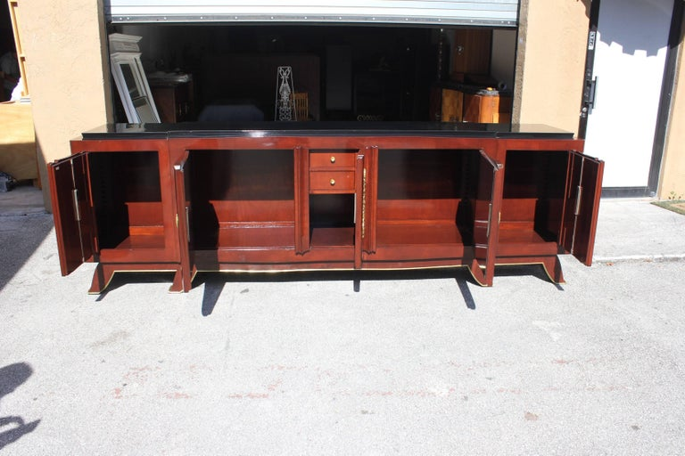 Mid-20th Century Impressive French Art Deco Rosewood Sideboard by Jules Leleu, circa 1935s For Sale