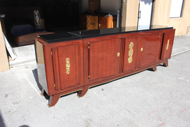 Impressive French Art Deco Rosewood Sideboard by Jules Leleu, circa 1935s For Sale 3