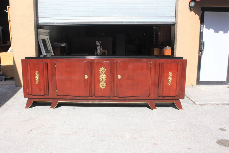 Impressive French Art Deco Rosewood Sideboard by Jules Leleu, circa 1935s For Sale 5