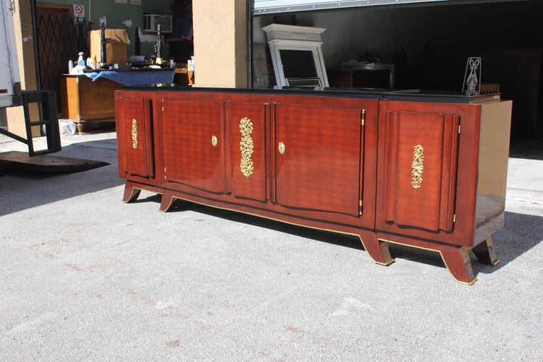 Impressive French Art Deco Rosewood Sideboard by Jules Leleu, circa 1935s For Sale 4