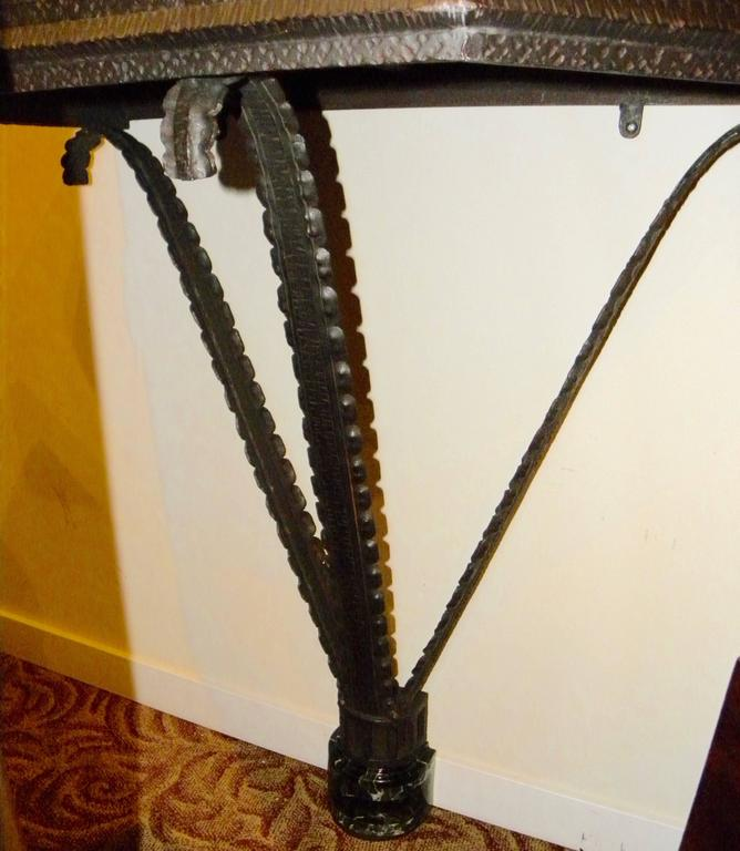 Contemporary Art Deco Iron French Style Console For Sale