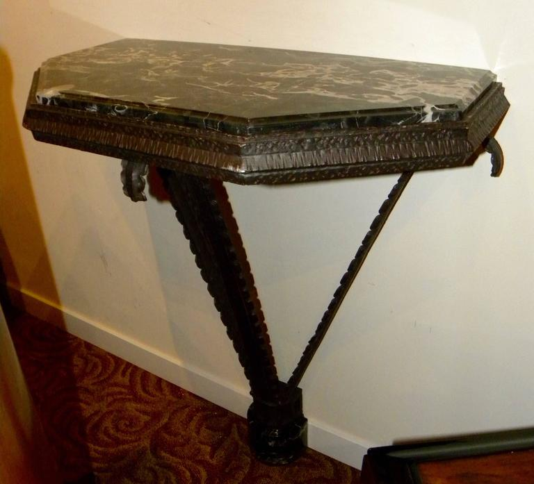 Art Deco Iron French Style Console For Sale 5