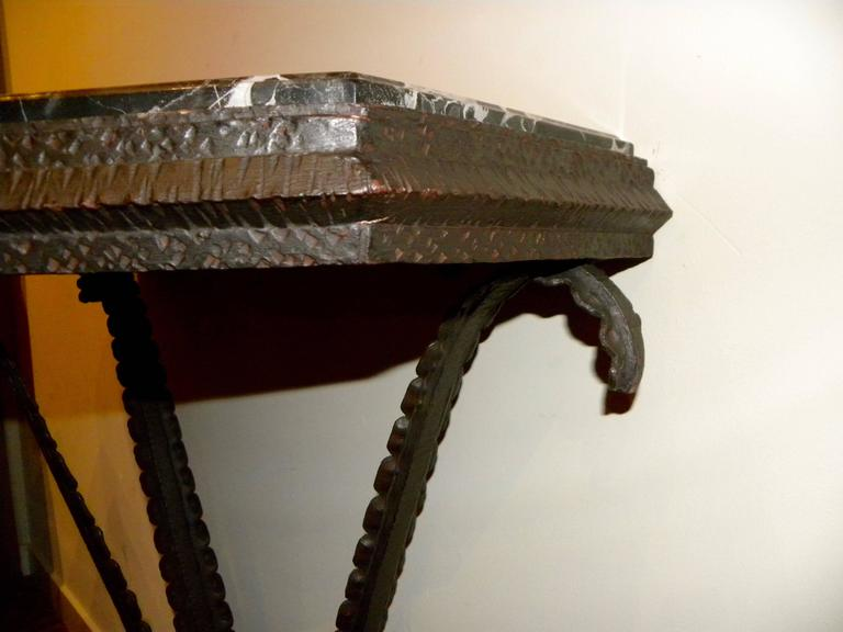 Art Deco Iron French Style Console For Sale 3