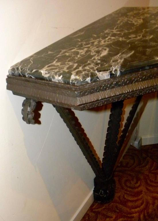 Art Deco Iron French Style Console For Sale 4