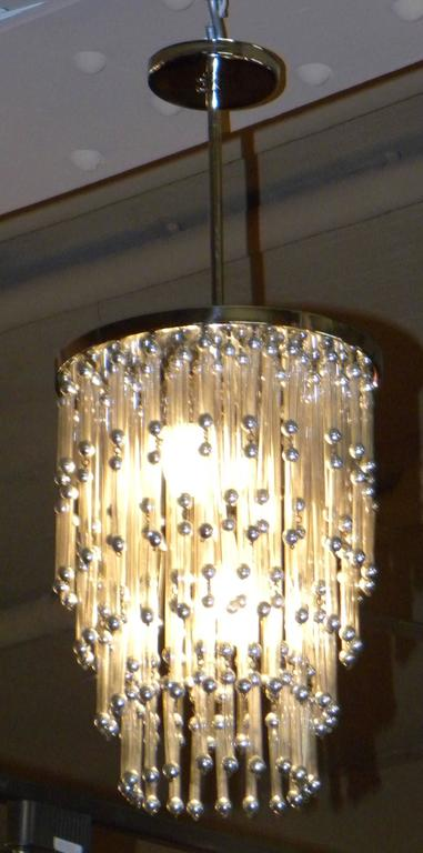 Mid-20th Century Unusual Art Deco Chandelier with Silver Balls For Sale