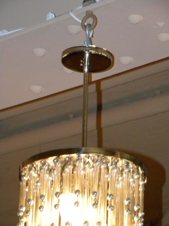 Unusual Art Deco Chandelier with Silver Balls For Sale 1