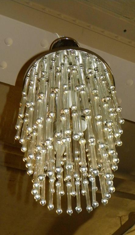 Unusual Art Deco Chandelier with Silver Balls In Excellent Condition For Sale In Oakland, CA
