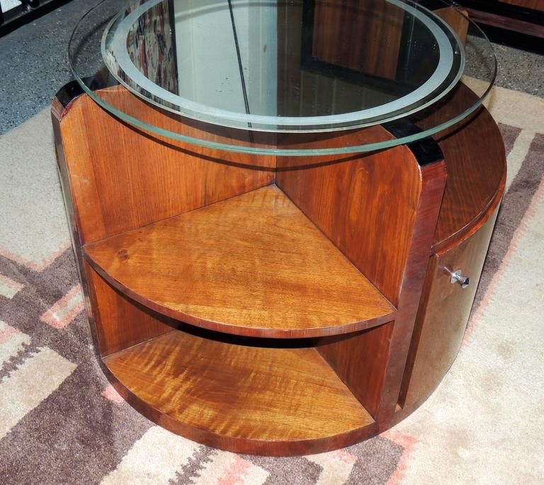 "Art Deco ""Secret"" Bar with Mirror Topped Table 4"