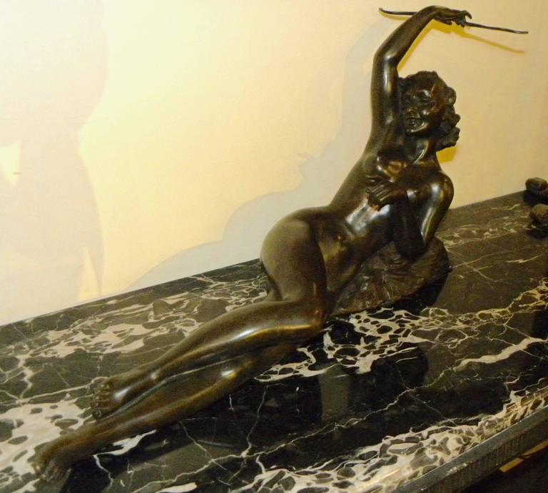 Art Deco Nude Bronze Sculpture by Alfred Gilbert : Art