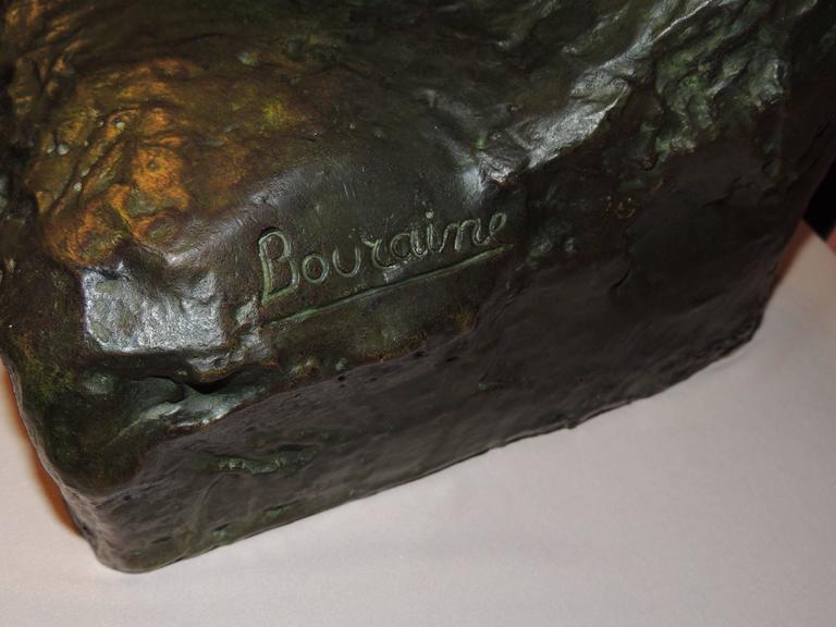 Mid-20th Century Art Deco Woman- Bronze Sculpture by Marcel Bouraine For Sale