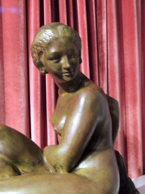 Art Deco Woman- Bronze Sculpture by Marcel Bouraine For Sale 1