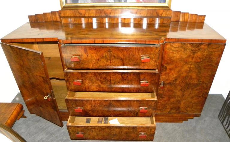 Bakelite Bookmatched Dining Art Deco Storage Cabinet For Sale