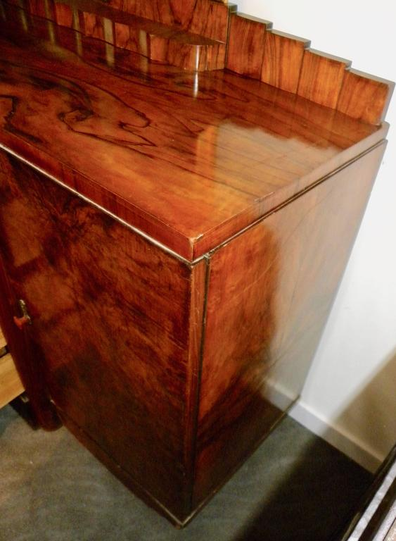 Bookmatched Dining Art Deco Storage Cabinet For Sale 3