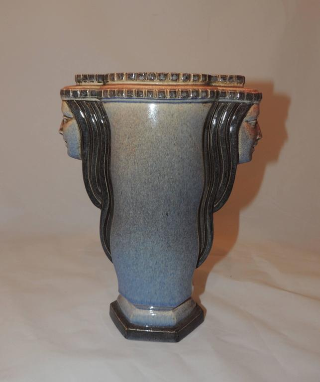 Art Deco Vase Two Faced By Guillard For Sale At 1stdibs