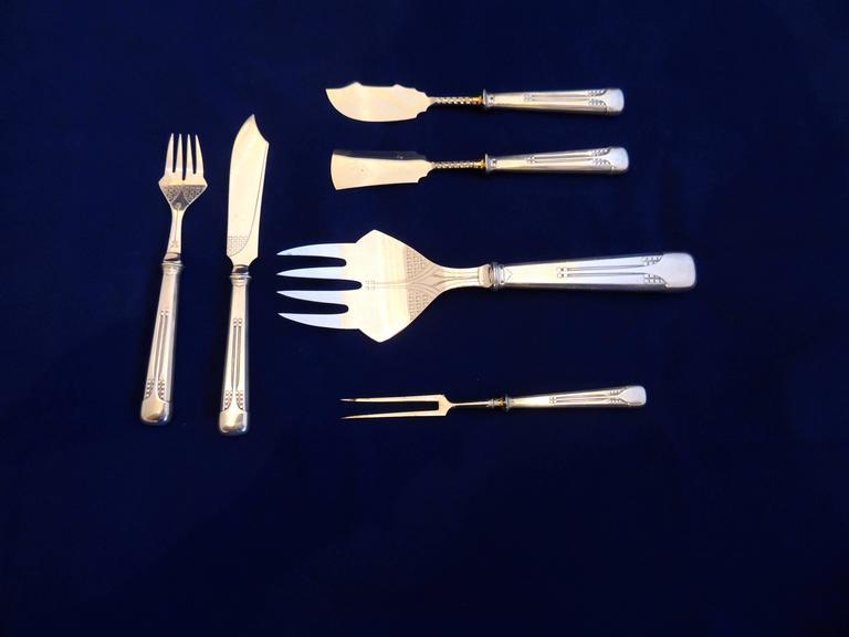 Complete wmf silverware service for 12 in oak storage box at 1stdibs - Wmf silverware ...
