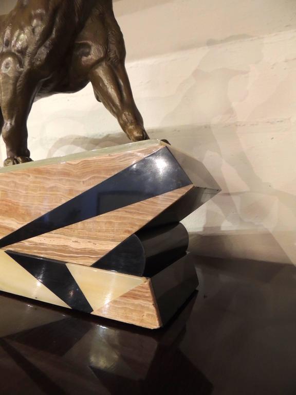 Mid-20th Century Bronze Art Deco Lion Sculpture For Sale