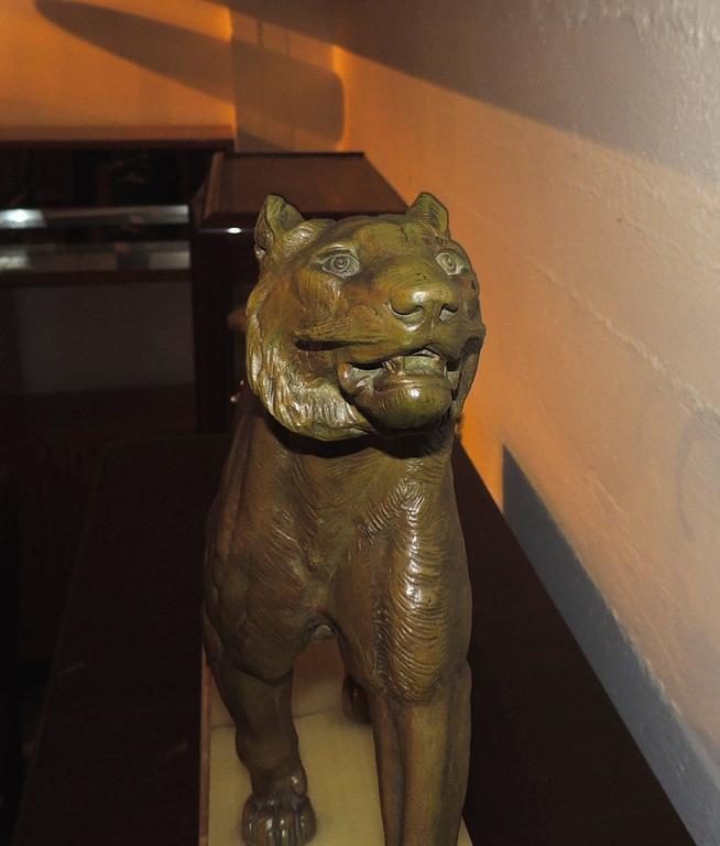 Bronze Art Deco Lion Sculpture For Sale 2