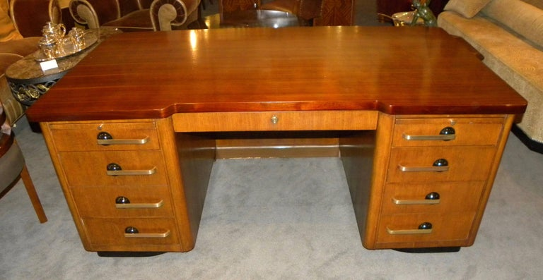 Professional Art Deco Desk By Stow And Davis For 1