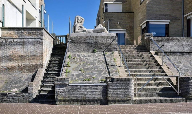 Art Deco Masterpiece Bronze Reclining Sculpture Important Artist Jan Anteunis For Sale 3