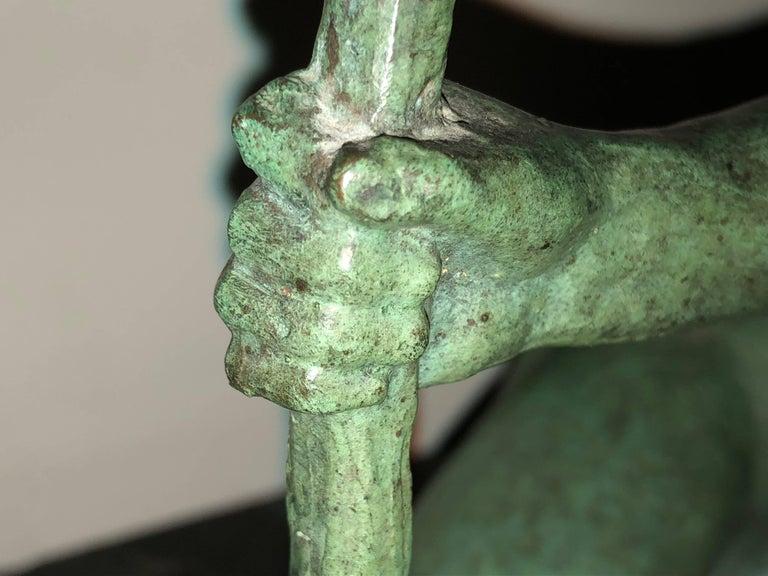 Art Deco Bronze Sculpture by Bouraine of Amazon Queen Penthesilea 1