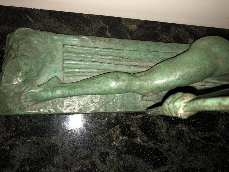 Art Deco Bronze Sculpture by Bouraine of Amazon Queen Penthesilea In Excellent Condition In Oakland, CA