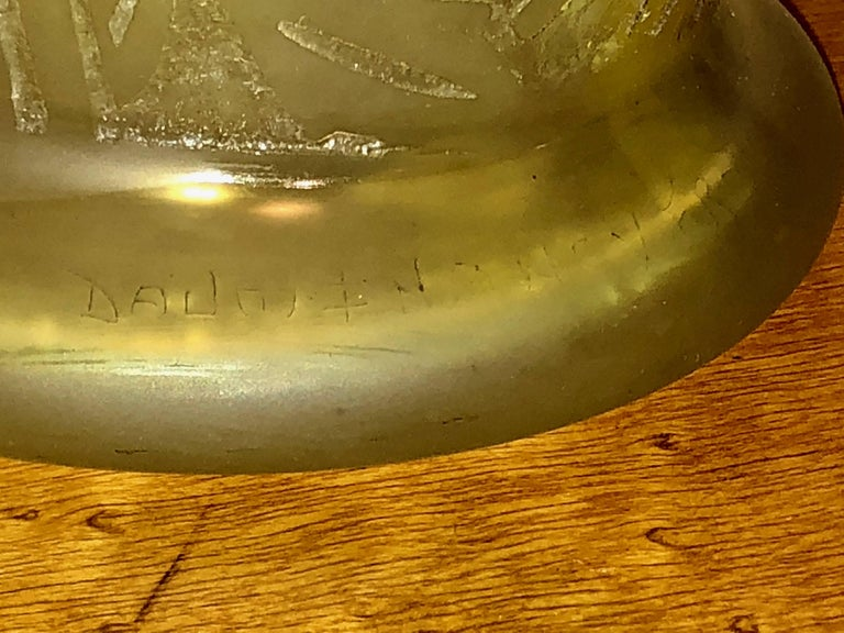 Early 20th Century Daum Nancy Art Deco Acid Etched French Glass For Sale