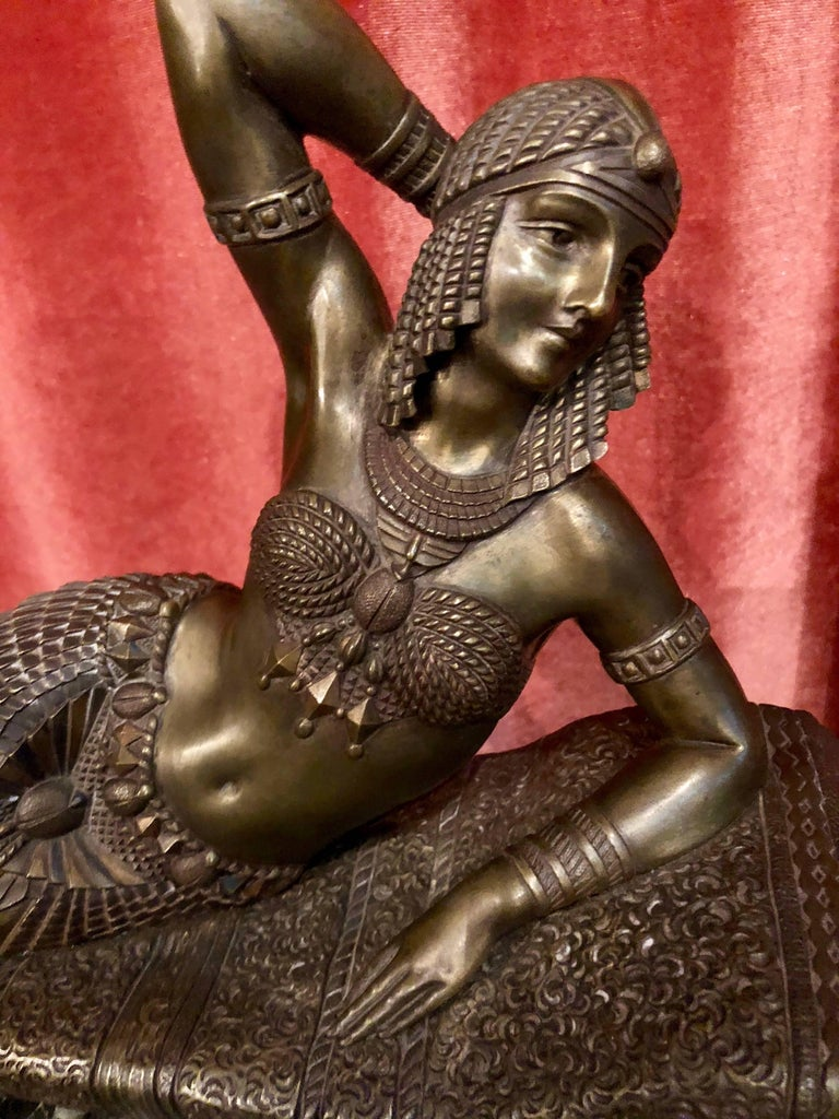 Art Deco Bronze ' Cleopatra ' by Demetre Chiparus circa 1925 is an extremely important and rare quality statue by the artist who was arguably the master of Art Deco figurative sculpture. Chiparus's work is in many museums and major collections